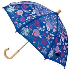 Girls Navy Flower Print Umbrella Hatley
