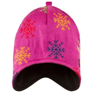 Girls Pink Snowflake Knitted Cap ISBJÖRN of Sweden