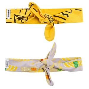 Girls Set Of Two Lilac And Yellow Headbands Indikidual