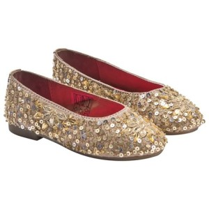 Billieblush Gold Embellished Ballet Pumps girls