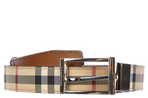 Burberry men's leather belt