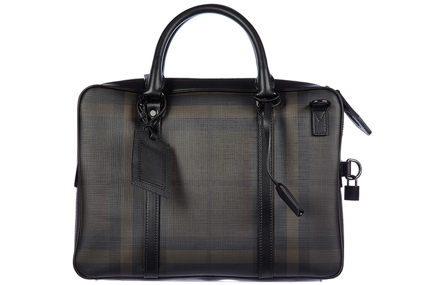 b8662e5ab652 Burberry Men s Pvc Briefcase   Laptop Bag in Black - Accessories ...