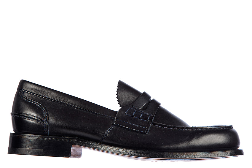 Church/'s Kane Black Leather Loafers Slip On Smart Formal Casual Shoes Size UK8.5