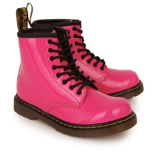 Dr Martens Brooklee Patent Lace Up Booties girls