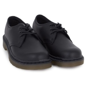 Boys Dr Martens Black Core Infant 3 Eye Shoes