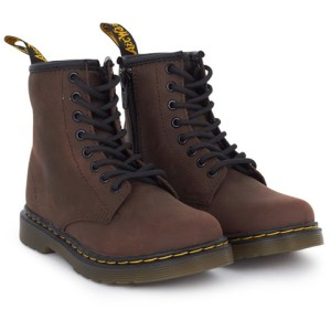 Boys Dr Martens Brown Distressed Leather Boots