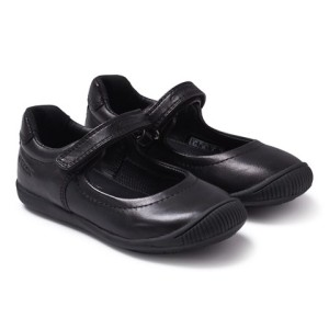 Geox Black Leather Mary Janes girls