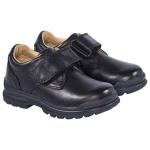 Boys Geox Black William Lace Up School Shoes