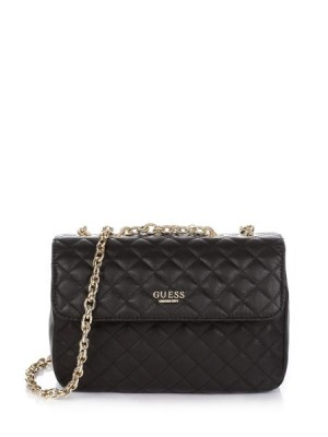 Guess Suave Quilted Crossbody Flap Bag women