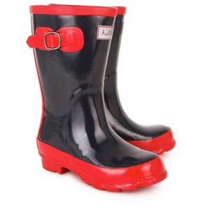 Hatley Red and Navy Classic Wellies girls