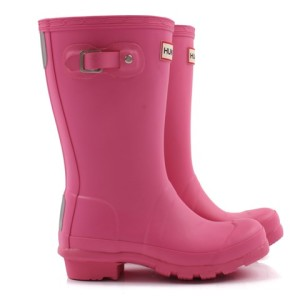 Hunter Original Fuchsia Wellington Boots girls