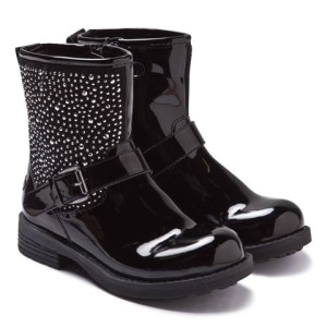 Lelli Kelly Black Patent Ankle Boots girls