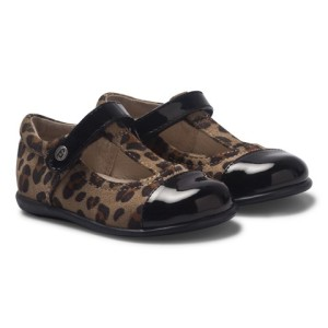 Mayoral Leopard and Patent T Bar Shoes girls