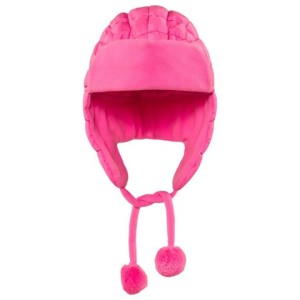 Girls Pink Infant Quilted Chapka Hat Poivre Blanc