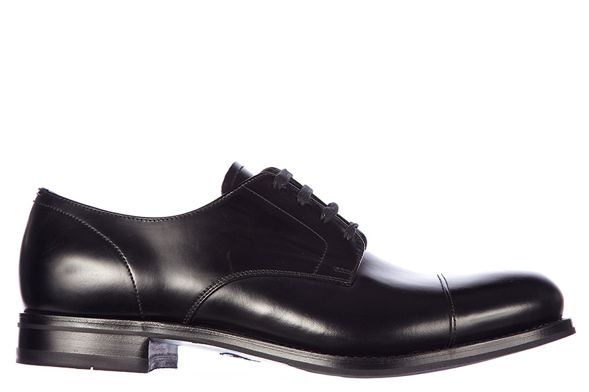 Prada Men S Leather Dress Shoes Oxford Shoes In Black Dress