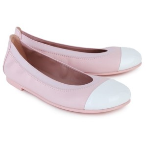 Pretty Ballerinas Pink Leather Ballet Pumps girls