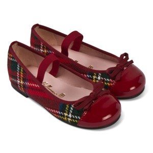 Pretty Ballerinas Red Tartan Ballet Pumps girls