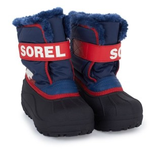 Boys Sorel Navy Snow Commander Velcro Boots