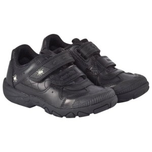 Boys Start-Rite Black Leather Tarantula School Shoes