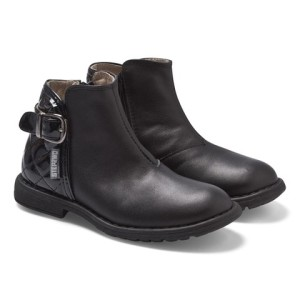 Step2wo Black Leather and Patent Ankle Boots girls