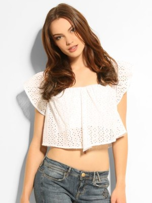 A line Eyelet Corset Top Guess
