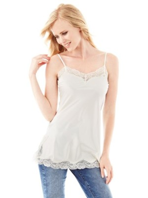 Fluid Top with Lace Inserts Guess