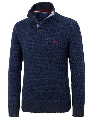 Crew Clothing Whistley Half Button Jumper