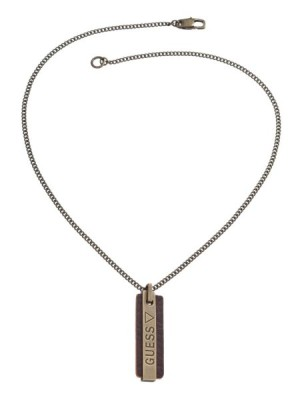 Guess Orange Logo Tag Necklace women