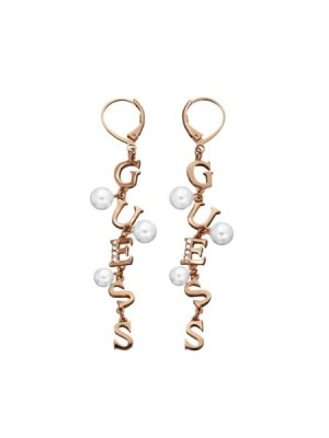 Guess Young Contrasts Gold Plated Pearls Earrings women