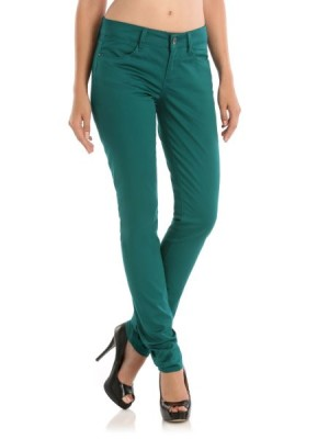 Guess womens Lux Satin Nicole Skinny Pant trousers