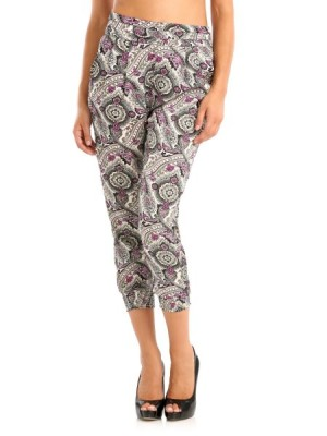 Guess womens Summer Paisley Cropped Pant trousers