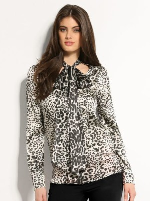 Marciano Guess womens Inked Animal Print Shirt blouse