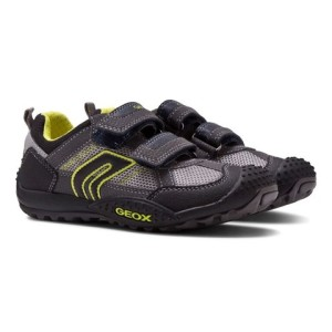 Boys Geox Grey and Lime Marlon Trainers