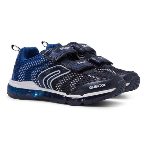 299c0004b40 Geox Boys' Navy Android Light Up Trainers in Navy - Boys, Kids ...