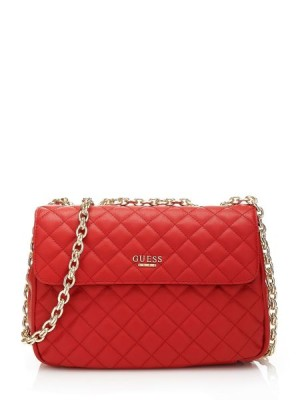 Guess Suave Quilted Crossbody Flap Bag