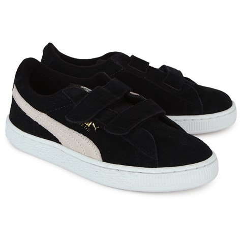 huge discount d1e5e ec606 Puma Boys' Suede Velcro Trainers in Black