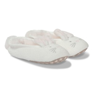 Boys The Little White Company White Fluffy Bunny Slippers