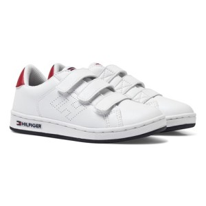 Boys Tommy Hilfiger White Classic Velcro Trainers